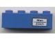 Part No: 3010pb121  Name: Brick 1 x 4 with 'Wien - Zürich' Pattern (Sticker) - Set 7710/7818