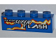 Part No: 3010pb138R  Name: Brick 1 x 4 with 'TEAM SUPER FLASH' and Electric Spark Pattern Model Right (Sticker) - Set 8303