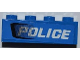 Part No: 3010pb153L  Name: Brick 1 x 4 with Black Air Intake and White 'POLICE' Pattern Model Left (Sticker) - Set 7970