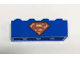 Part No: 3010pb209  Name: Brick 1 x 4 with Red and Yellow Superman 'S' Logo Pattern