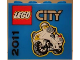 Part No: 30144pb110  Name: Brick 2 x 4 x 3 with LEGO City 2011 Police Motorcycle Pattern