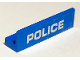 Part No: 30413pb069  Name: Panel 1 x 4 x 1 with White 'POLICE' Thin Font on Blue Background Pattern (Sticker) - Set 60175