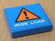 Part No: 3068bpb0331  Name: Tile 2 x 2 with Groove with 'WIDE LOAD' and Orange Warning Triangle Pattern (Sticker) - Set 8147
