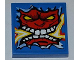 Part No: 3068bpb0426  Name: Tile 2 x 2 with Groove with Angry Red Face with Electric Spark in Mouth Pattern (Sticker) - Set 8303