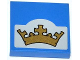 Part No: 3068bpb0789  Name: Tile 2 x 2 with Groove with Gold Crown on Light Bluish Gray Background Pattern (Sticker) - Set 70404