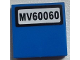 Part No: 3068bpb0839  Name: Tile 2 x 2 with Groove with 'MV60060' License Plate Pattern (Sticker) - Set 60060