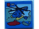 Part No: 3068bpb0937  Name: Tile 2 x 2 with Groove with Lego Helicopter and 'CITY' Set Box Pattern