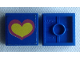 Part No: 3068bpb1225  Name: Tile 2 x 2 with Groove with Pink and Yellow Heart on Blue Background Pattern (Sticker) - Set 275-1