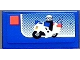 Part No: 3069bpb0227  Name: Tile 1 x 2 with Groove with Lego Police Motorcycle Set Box Pattern (Sticker) - Set 7848