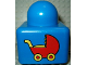 Part No: 31000pb13  Name: Primo Brick 1 x 1 with Red Baby Carriage Pattern