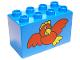 Part No: 31111pb005  Name: Duplo, Brick 2 x 4 x 2 with Big Red Bird Pattern