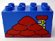 Part No: 31111pb021  Name: Duplo, Brick 2 x 4 x 2 with Red Roof and Yellow Chimney Pattern