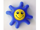Part No: 31627cx01  Name: Primo Teether Star with 8 Arms, Yellow Center and Face Pattern