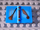 Part No: 33009pb004  Name: Minifigure, Utensil Book 2 x 3 with Quidditch Broom and Golden Snitch Pattern