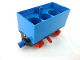 Part No: 3443c09  Name: Train Battery Box Car with Three Contact Holes, Red Switch Lever, Blue and Red Magnets, and Red Wheels