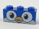 Part No: 3622pb089  Name: Brick 1 x 3 with Dog Face Wide Dark Orange Eyes, Medium Nougat Muzzle Pattern
