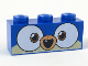 Part No: 3622pb091  Name: Brick 1 x 3 with Dog Face Wide Dark Orange Eyes, Medium Nougat Muzzle, Open Mouth with 1 Tooth Pattern