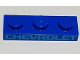 Part No: 3623pb020  Name: Plate 1 x 3 with Medium Azure 'CHEVROLET' Pattern