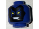 Part No: 3626cpb1621  Name: Minifigure, Head Alien Mask Black with Yellow Eyes and White Teeth Pattern (Blue Beetle) - Hollow Stud