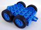 Part No: 40624c01  Name: Duplo Trailer Flatbed 4 x 6 with Hitch Ends and 4 Wheels