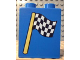 Part No: 4066pb119  Name: Duplo, Brick 1 x 2 x 2 with Checkered Flag Pattern