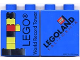Part No: 4066pb201  Name: Duplo, Brick 1 x 2 x 2 with Lego World Record Tower Pattern