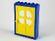 Part No: 4071c01  Name: Door Frame 2 x 6 x 7 with Yellow Fabuland Door 1 x 6 x 7 with Round Pane in 4 Sections (4071 / 4072)