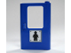Part No: 4182pb008  Name: Door 1 x 4 x 5 Train Right with Minifigure Silhouette Pattern (Sticker) - Set 7905
