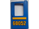 Part No: 4182pb042  Name: Door 1 x 4 x 5 Train Right with Bright Light Orange Stripe and '60052' Pattern (Sticker) - Set 60052