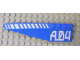 Part No: 42061pb15  Name: Wedge 12 x 3 Left with White Hash Lines and 'A.04' Pattern (Stickers) - Set 7709