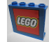 Part No: 4215bpb48  Name: Panel 1 x 4 x 3 - Hollow Studs with Lego Logo on Blue Background Pattern (Sticker) - Set 3579