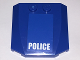 Part No: 45677pb097  Name: Wedge 4 x 4 x 2/3 Triple Curved with White 'POLICE' on Blue Background Pattern (Sticker) - Set 4438