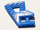 Part No: 45784pb04  Name: Technic, Panel RC Car Flexible Bumper Right with Gray Stripes on Blue and Black Background Pattern (Stickers) - Set 8369-2
