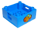 Part No: 47423px9  Name: Duplo Container Box 4 x 4 with Studs on Corners with Box and Arrows and Globe Pattern