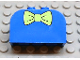 Part No: 4744px8  Name: Brick, Modified 2 x 4 x 2 Double Curved Top with Green Bow Tie Pattern