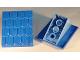 Part No: 4860c05  Name: Duplo Roofpiece Slope 30 4 x 4 Shingled with Medium Blue Base