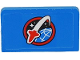 Part No: 4865pb054  Name: Panel 1 x 2 x 1 with Space Shuttle Logo Panel Pattern (Sticker) - Set 60080