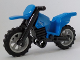 Part No: 50860c02  Name: Motorcycle Dirt Bike with Black Chassis (Undetermined Fairing Mounts) and Light Bluish Gray Wheels