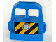 Part No: 51554pb01  Name: Duplo, Train Locomotive Front with Silver Headlight and Diagonal Stripes Pattern