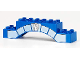 Part No: 51704pb03  Name: Duplo, Brick 2 x 10 x 2 Arch with Stonework and Silver Star Badge Pattern