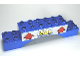 Part No: 51704pb04  Name: Duplo, Brick 2 x 10 x 2 Arch with Car Wash and Arrows Pattern