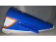 Part No: 54701c06pb01  Name: Aircraft Fuselage Curved Aft Section with White Base with Orange, Light Bluish Gray and White Pattern on Both Sides (Stickers) - Set 60104