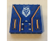 Part No: 59349pb155  Name: Panel 1 x 6 x 5 with Silver '375-6075', Nexo Knights Emblem and Orange Circuitry Pattern (Sticker) - Set 70317