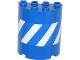 Part No: 6259pb022  Name: Cylinder Half 2 x 4 x 4 with Blue and White Danger Stripes Pattern (Sticker) - Set 70814