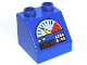 Part No: 6474pb30  Name: Duplo, Brick 2 x 2 Slope 45 with Gauge, Buttons and 34.50 Pattern