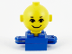Part No: 685px4c01  Name: Homemaker Figure Torso Assembly and Yellow Head with Eyes, Eyebrows and Smile Pattern