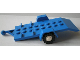 Part No: 817c02  Name: Vehicle, Trailer Base 4 x 8 Bed with White Wheels and Tires