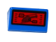 Part No: 85984pb143  Name: Slope 30 1 x 2 x 2/3 with Helicopter on Red Screen Pattern (Sticker) - Set 76046