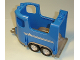 Part No: 87657c01pb01  Name: Duplo Horse Trailer with Dark Bluish Gray Base and Silver Stripes and Horse Head Pattern