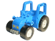 Part No: 87967c01pb01  Name: Duplo Farm Tractor New Style with 2 x 2 Studs on Hood and Yellow Headlights Pattern